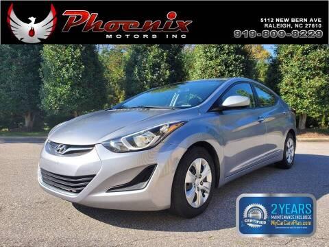 2016 Hyundai Elantra for sale at Phoenix Motors Inc in Raleigh NC