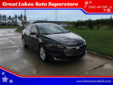 2016 Chevrolet Malibu for sale at Great Lakes Auto Superstore in Waterford Township MI