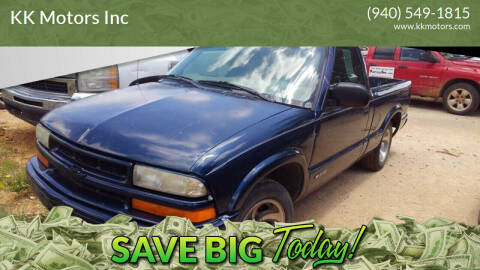 2000 Chevrolet S-10 for sale at KK Motors Inc in Graham TX