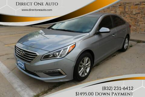 2015 Hyundai Sonata for sale at Direct One Auto in Houston TX