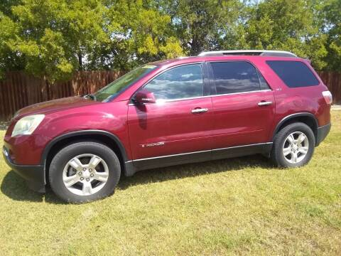 2007 GMC Acadia for sale at El Jasho Motors in Grand Prairie TX