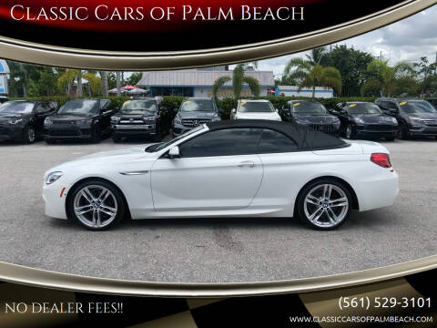 2017 BMW 6 Series for sale at Classic Cars of Palm Beach in Jupiter FL