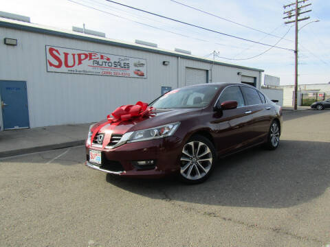 2014 Honda Accord for sale at SUPER AUTO SALES STOCKTON in Stockton CA