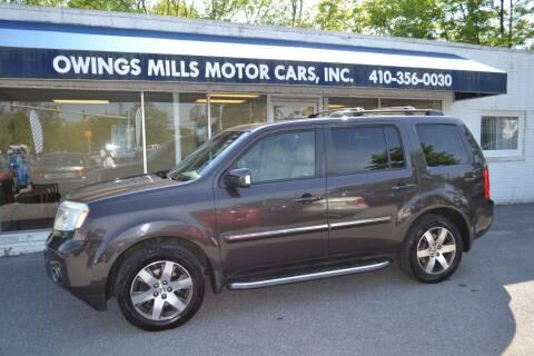 2012 Honda Pilot for sale at Owings Mills Motor Cars in Owings Mills MD