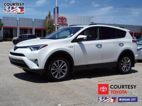 2018 Toyota RAV4 Hybrid for sale at Courtesy Toyota & Ford in Morgan City LA