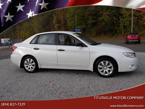 2008 Subaru Impreza for sale at Titusville Motor Company in Titusville PA