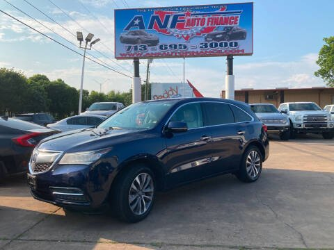 2014 Acura MDX for sale at ANF AUTO FINANCE in Houston TX