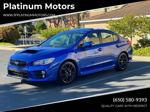 2021 Subaru WRX for sale at Platinum Motors in San Bruno CA