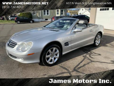 2003 Mercedes-Benz SL-Class for sale at James Motors Inc. in East Longmeadow MA