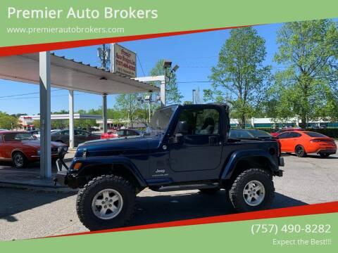 2005 Jeep Wrangler for sale at Premier Auto Brokers in Virginia Beach VA