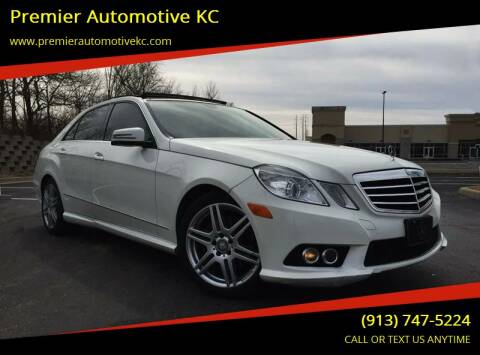2010 Mercedes-Benz E-Class for sale at Premier Motors of KC in Kansas City MO
