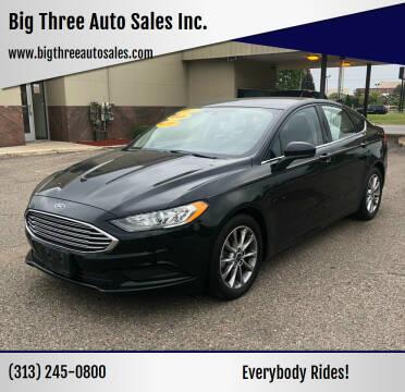 2017 Ford Fusion for sale at Big Three Auto Sales Inc. in Detroit MI
