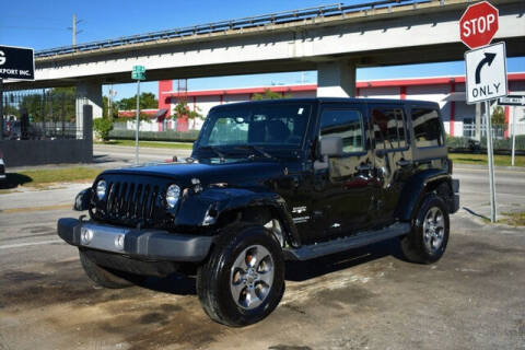 2017 Jeep Wrangler Unlimited for sale at ELITE MOTOR CARS OF MIAMI in Miami FL