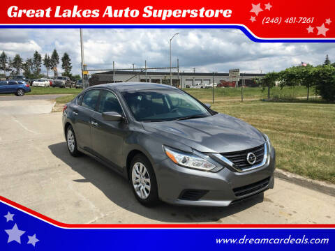 2016 Nissan Altima for sale at Great Lakes Auto Superstore in Pontiac MI