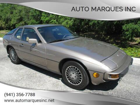 1982 Porsche 924 for sale at Auto Marques Inc in Sarasota FL
