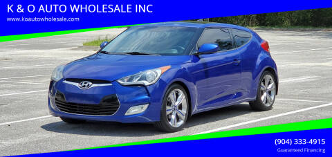 2012 Hyundai Veloster for sale at K & O AUTO WHOLESALE INC in Jacksonville FL