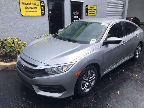 2016 Honda Civic for sale at FLORIDA CAR TRADE LLC in Davie FL