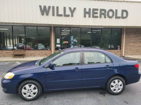 2005 Toyota Corolla for sale at Willy Herold Automotive in Columbus GA