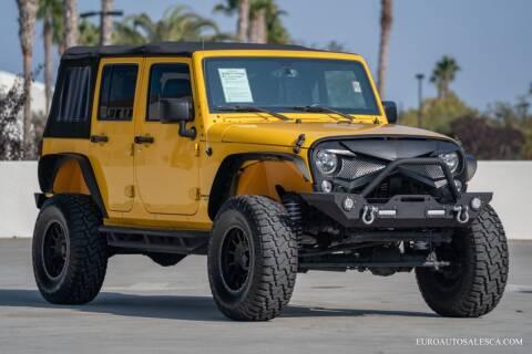2015 Jeep Wrangler Unlimited for sale at Euro Auto Sales in Santa Clara CA