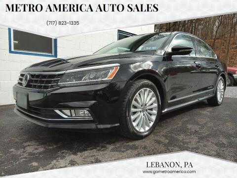 2016 Volkswagen Passat for sale at METRO AMERICA AUTO SALES of Lebanon in Lebanon PA
