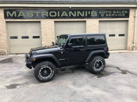 2009 Jeep Wrangler for sale at Mastroianni Auto Sales in Palmer MA