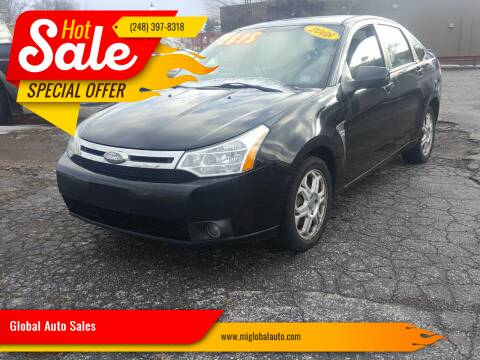 2008 Ford Focus for sale at Global Auto Sales in Hazel Park MI