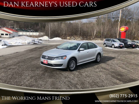 2014 Volkswagen Passat for sale at DAN KEARNEY'S USED CARS in Center Rutland VT