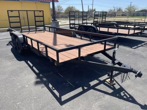 2021 P &C TRAILER & REPAIR 83X18 TA ANGLEGATE for sale at Lipscomb Powersports in Wichita Falls TX