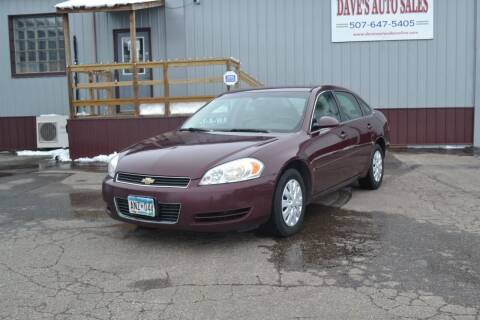 2007 Chevrolet Impala for sale at Dave's Auto Sales in Winthrop MN