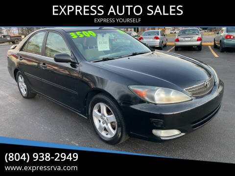 2002 Toyota Camry for sale at EXPRESS AUTO SALES in Midlothian VA
