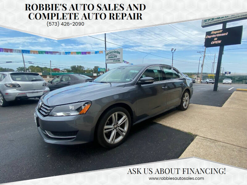 2014 Volkswagen Passat for sale at Robbie's Auto Sales and Complete Auto Repair in Rolla MO
