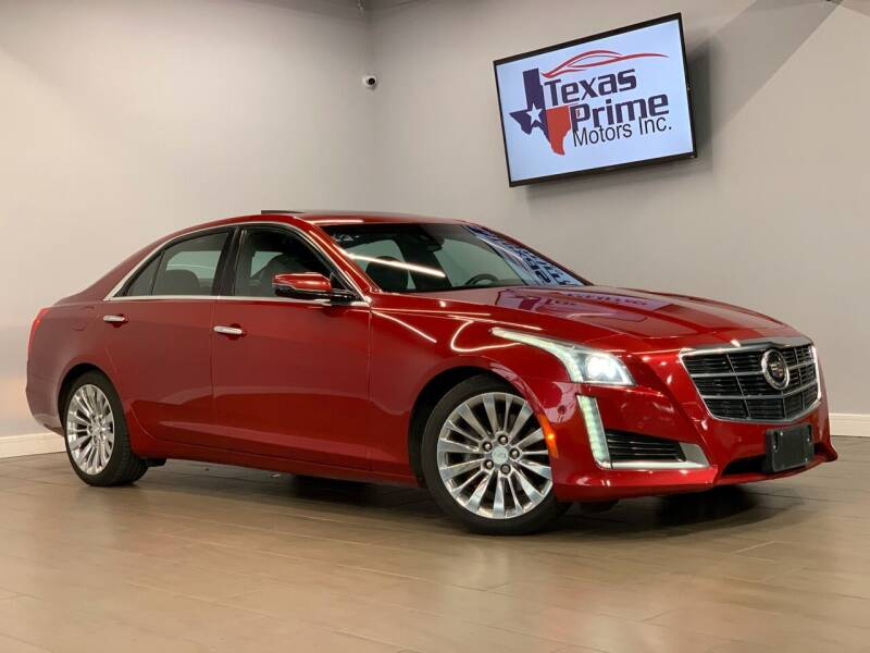 2014 Cadillac CTS for sale at Texas Prime Motors in Houston TX