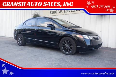 2009 Honda Civic for sale at CRANSH AUTO SALES, INC in Arlington TX