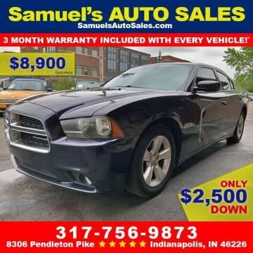 2012 Dodge Charger for sale at Samuel's Auto Sales in Indianapolis IN
