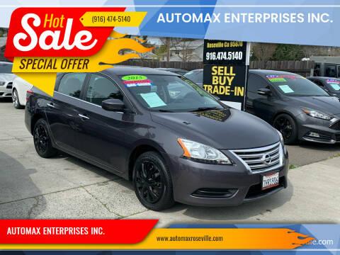 2015 Nissan Sentra for sale at AUTOMAX ENTERPRISES INC. in Roseville CA