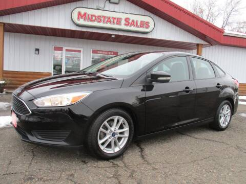2016 Ford Focus for sale at Midstate Sales in Foley MN