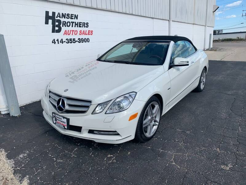 2012 Mercedes-Benz E-Class for sale at HANSEN BROTHERS AUTO SALES in Milwaukee WI