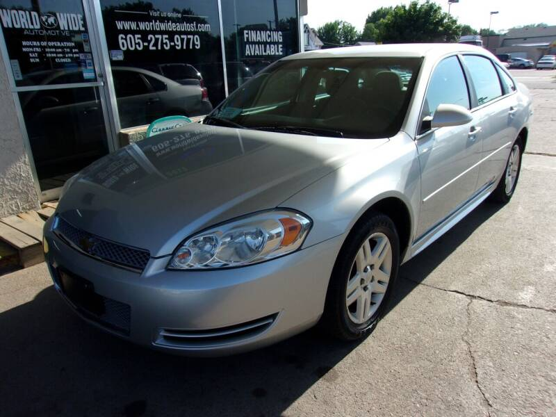 2012 Chevrolet Impala for sale at World Wide Automotive in Sioux Falls SD