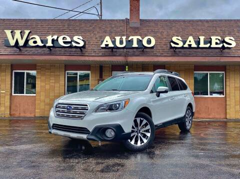 2015 Subaru Outback for sale at Wares Auto Sales INC in Traverse City MI