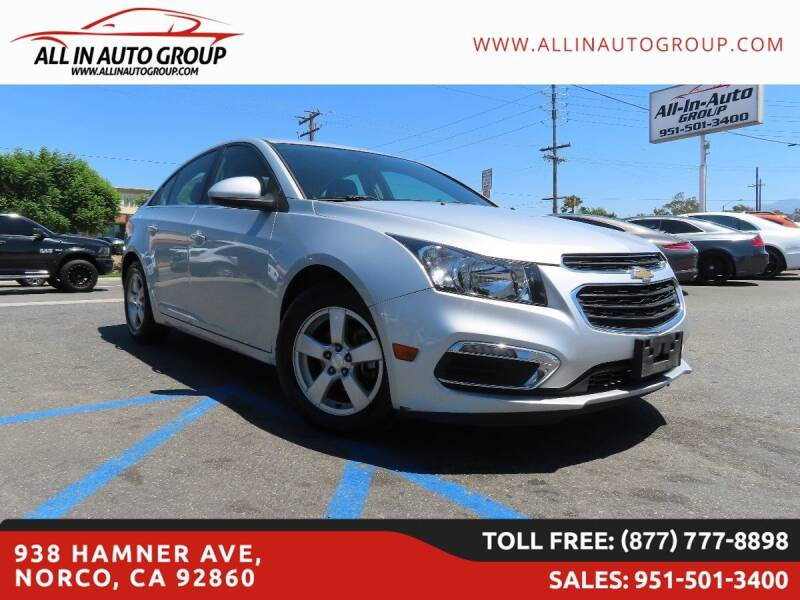 2016 Chevrolet Cruze Limited for sale in Norco, CA