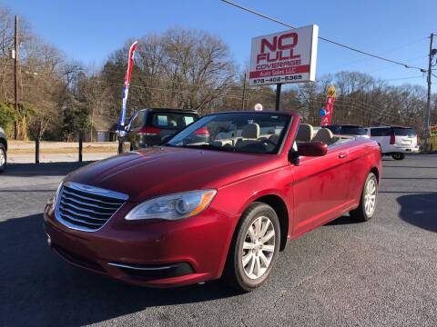 2013 Chrysler 200 Convertible for sale at No Full Coverage Auto Sales in Austell GA