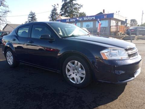 2014 Dodge Avenger for sale at All American Motors in Tacoma WA
