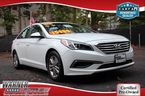2016 Hyundai Sonata for sale at Warner Motors in East Orange NJ