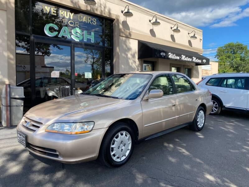 2001 Honda Accord for sale at Wilson-Maturo Motors in New Haven CT