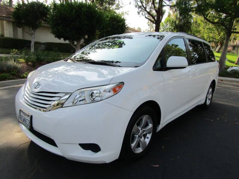 2017 Toyota Sienna for sale at E MOTORCARS in Fullerton CA
