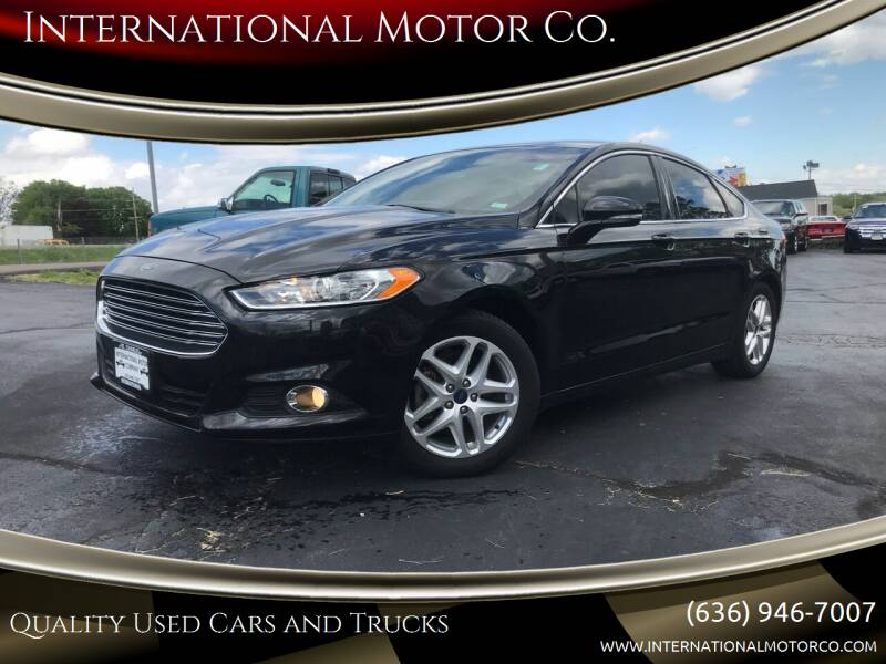 2015 Ford Fusion for sale at International Motor Co. in Saint Charles MO