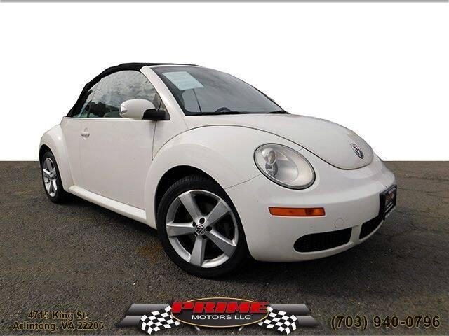 2007 Volkswagen New Beetle Convertible for sale at PRIME MOTORS LLC in Arlington VA