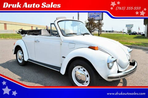 1973 Volkswagen Super Beetle for sale at Druk Auto Sales in Ramsey MN