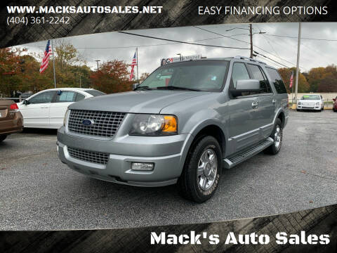 2006 Ford Expedition for sale at Mack's Auto Sales in Forest Park GA
