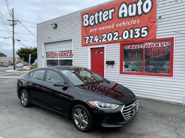 2018 Hyundai Elantra for sale at Better Auto in Dartmouth MA